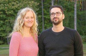 Lyne Douville, professeure au Département de psychoéducation de l'UQTR, et le doctorant Thomas Gottin de l'Université de Montréal.