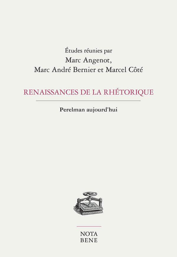 Renaissance de la rhétorique - Perelman aujoud'hui
