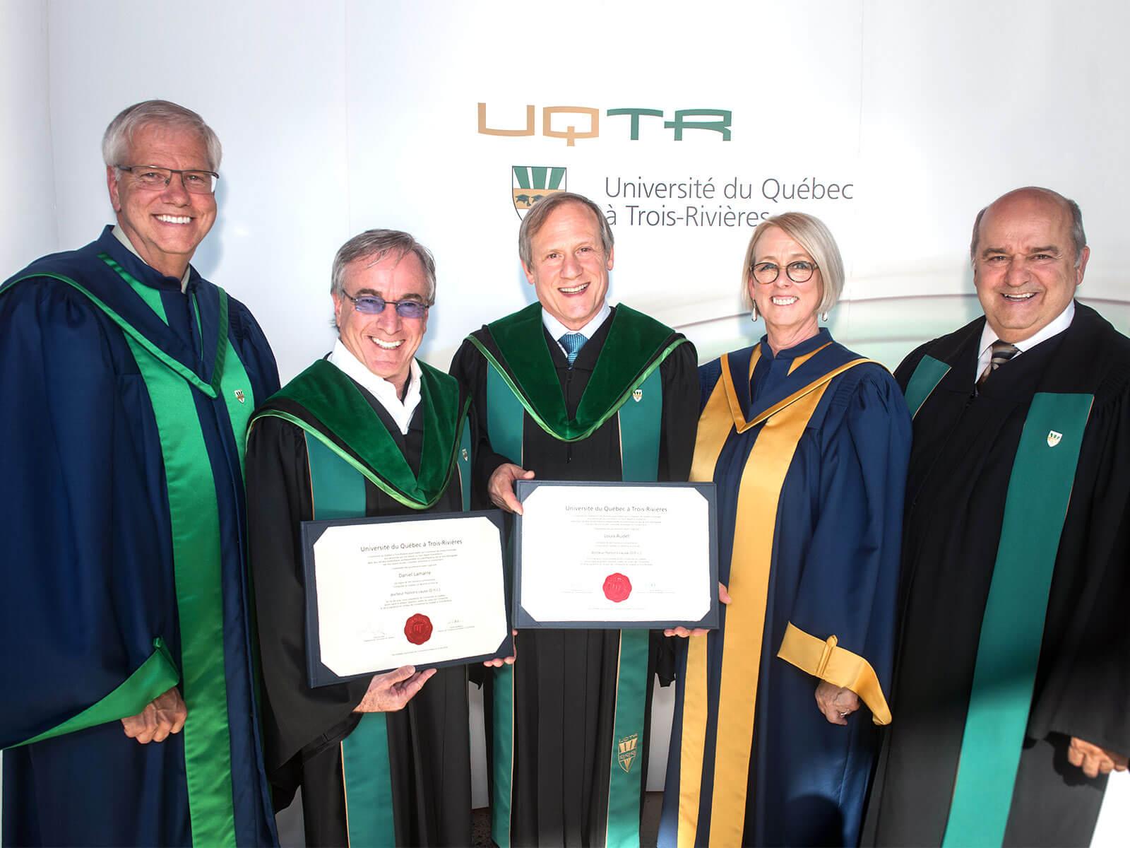 Louis Audet et Daniel Lamarre reçoivent un doctorat honoris causa