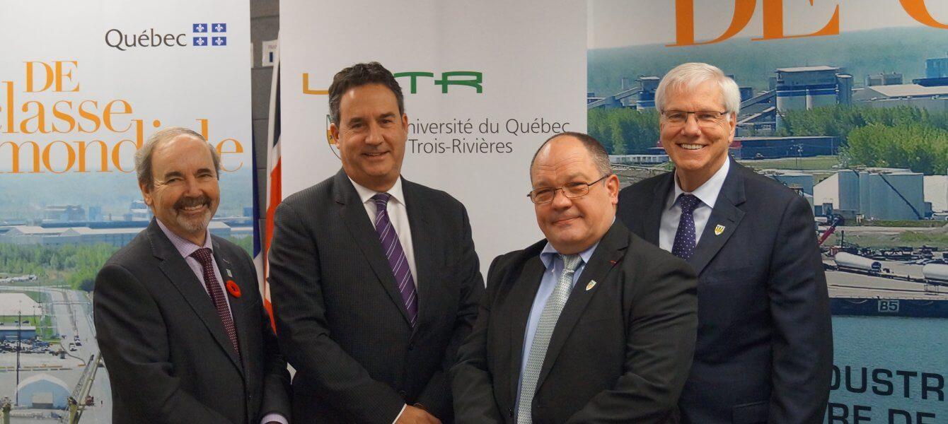 La Société du parc industriel et portuaire de Bécancour offre une opportunité à l'UQTR pour l'implantation de son site sécurisé de recherche en thanatologie