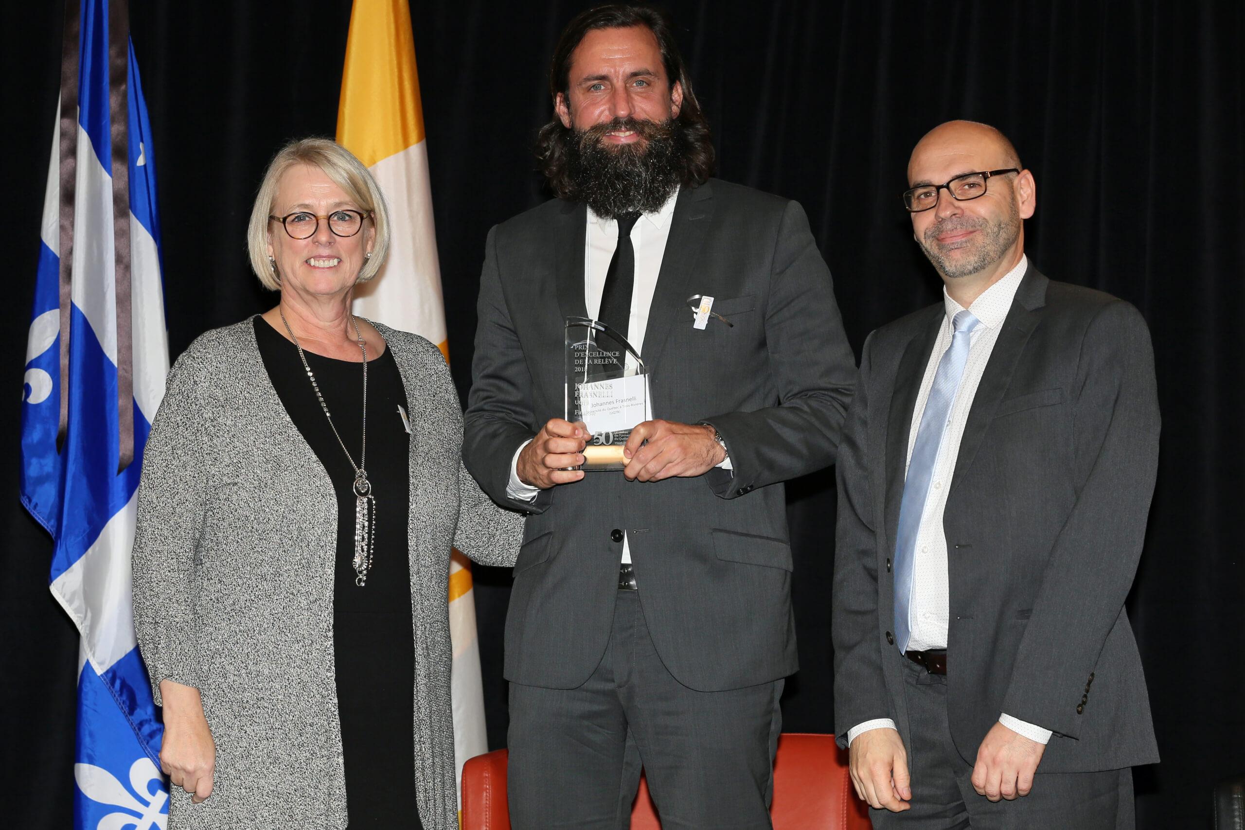 Un Prix d'excellence à la relève pour Johannes Frasnelli