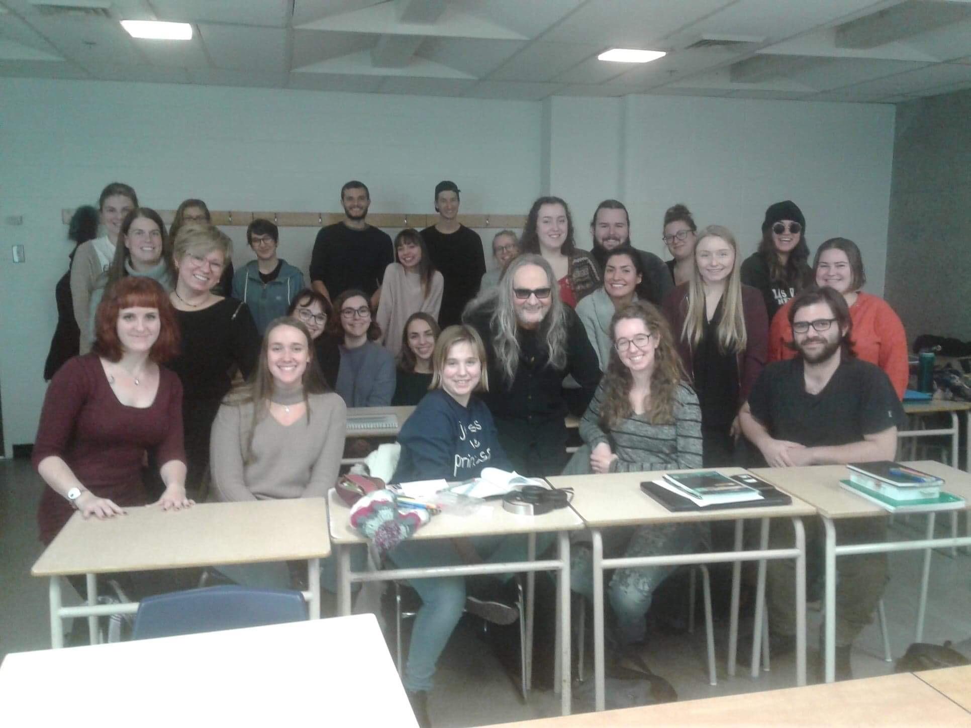 Breen Leboeuf rencontre les étudiants du cours Chanson québécoise