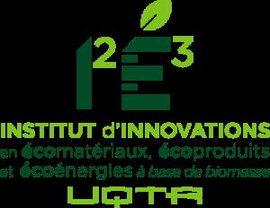 Logo de l'Institut d'innovations en écomatériaux, écoproduits et éconergies (I2E3) à base de biomasse de l'UQTR.
