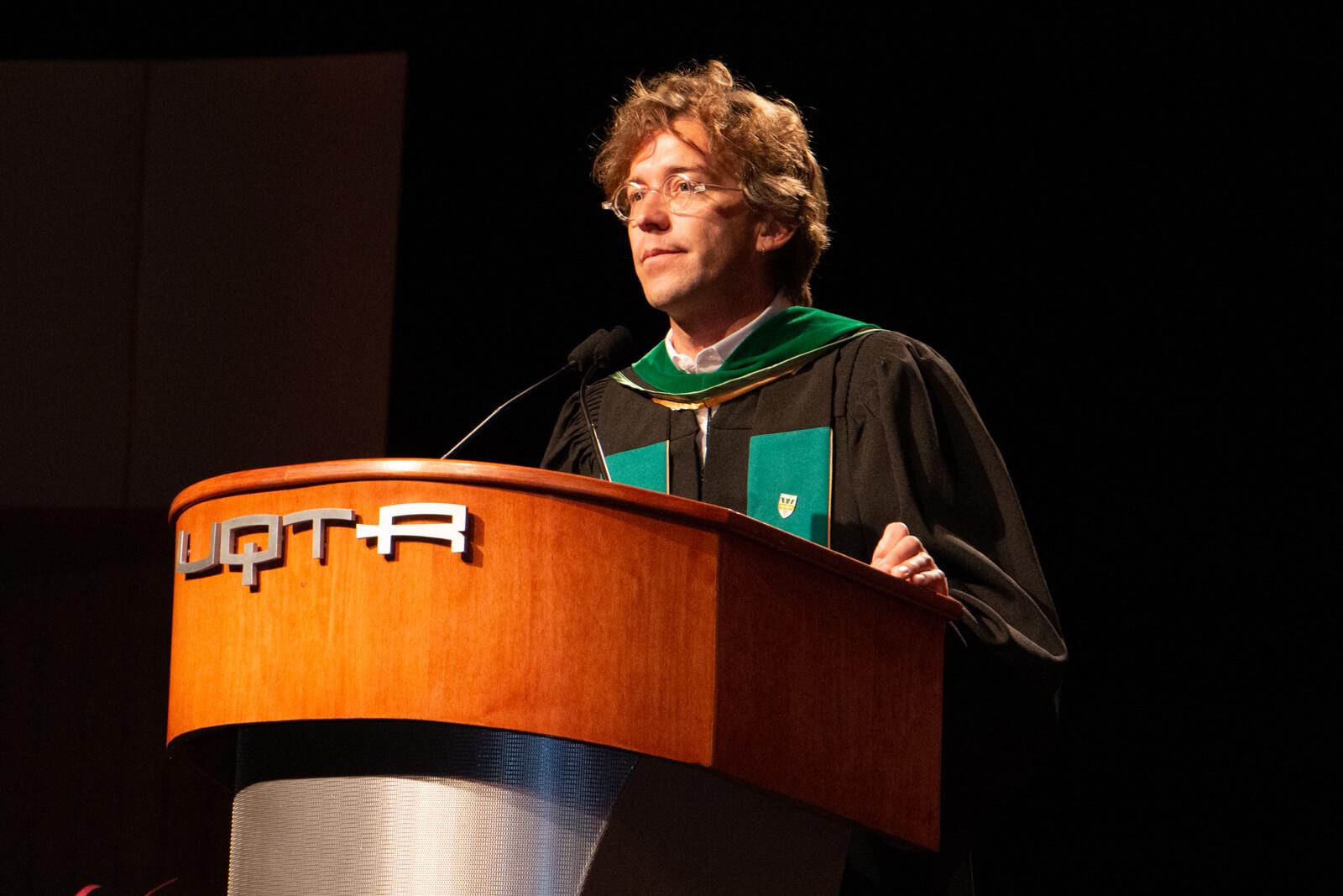 Fred Pellerin, récipiendaire d'un doctorat honoris causa - Collation des grades 2019