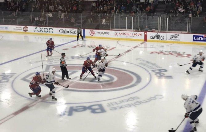 Les Patriotes disputent un match contre les recrues du Canadien de Montréal