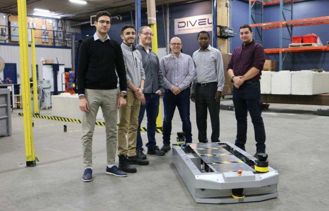 Un premier véhicule industriel autoguidé pour la Chaire DIVEL®
