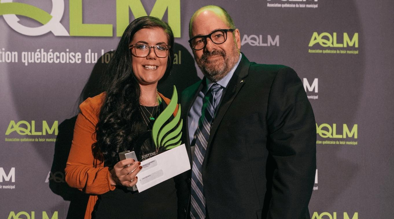 Justine Côté-Laberge remporte le prix Otium, excellence académique, de l'Association québécoise du loisir municipal