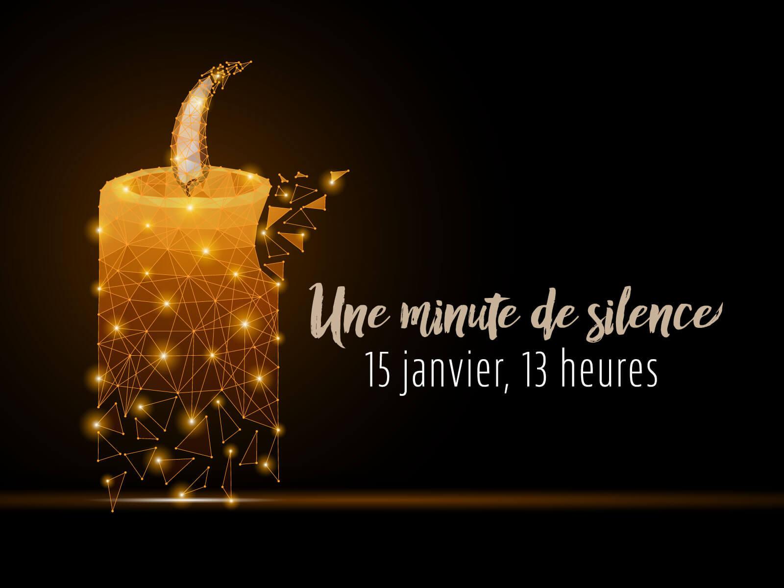 Une minute de silence et de chagrin solidaire