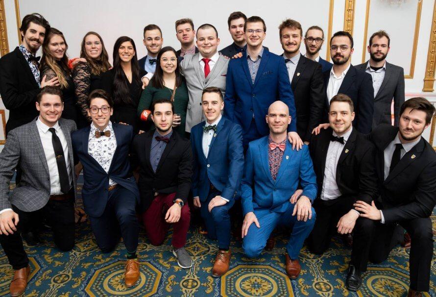 La délégation des étudiants en génie de l'UQTR à la Compétition québécoise d'ingénierie 2020.