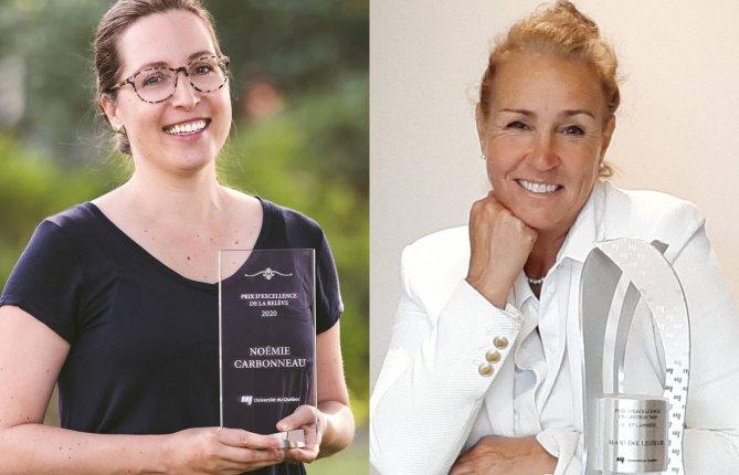Prestigieuses distinctions pour Noémie Carbonneau et Martine Lesieur